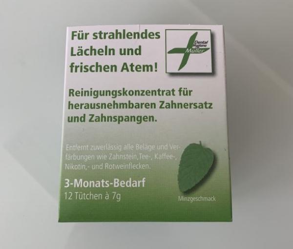 Reinigungskonzentrat  3 Monatspackung für Schienen und Zahnersatz